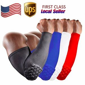 Honeycomb Elbow Pad Support Crashproof Basketball Football Arm Sleeve protector