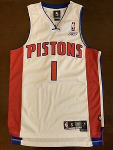 check out 99b59 b9db2 Details about Rare Vintage Reebok NBA Detroit Pistons Chauncey Billups  Basketball Jersey