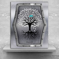 (LT-1374) Personalized 11th Anniversary Personalized Wedding Tree Faux Steel ...