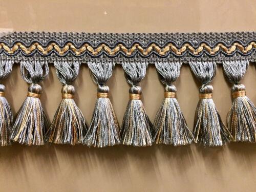 """3.5/"""" Tassel Fringe Trim antique gold TF-5//12"""