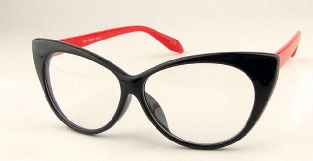 Sexy Vintage Fashion Cat-Eye Shape Women Lady Girls Plastic Plain Eye Glasses GO