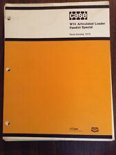 Original Case W14 Articulated Loader Feedlot Special Parts Catalog Manual 1370