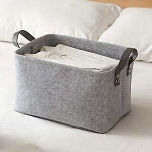 Image Is Loading Large Gray Home Storage Basket Clothes Organizer Hamper