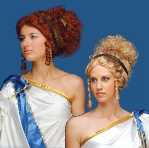 Perruque Daphné pour Femmes Blonde ou rouge pour mardi gras carnaval-article NEUF