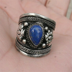 09a03e410eb91 Large Adjustable Tibetan Heart Shape Lapis Lazuli Gemstone Dorje ...