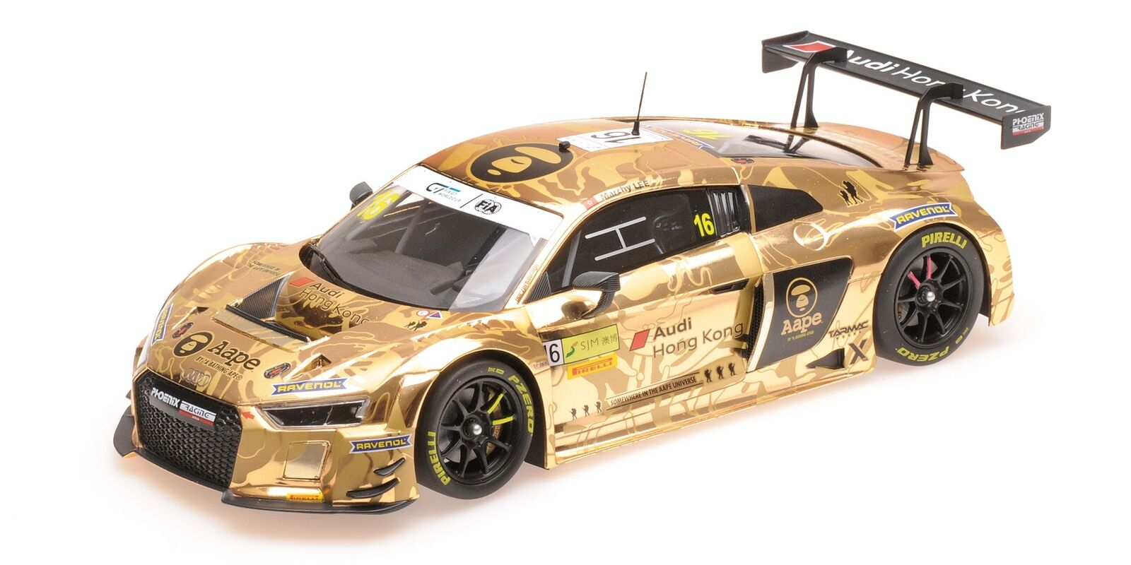 Audi R8 Lms Hong Kong Fia Gt World Cup Macau 2016 MINICHAMPS 1 18 155161185 Mini