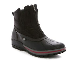 Pajar-Canada-Mens-US-13-BALINS-Faux-Shearling-Lined-Duck-Boots-Black-Leather-NEW