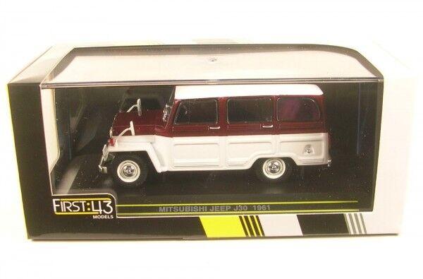 Mitsubishi Jeep J30 (Weiß rot) 1961 RHD  | New New New Products  f9d306