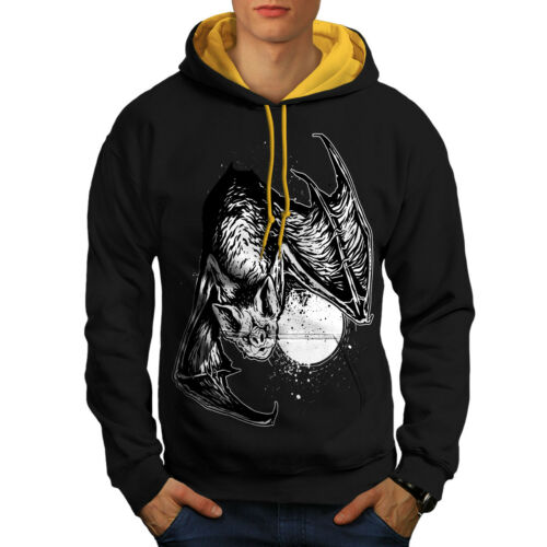 Hood Beast Bat New Night Black Contrast Animal Men gold Hoodie qvU7qaO