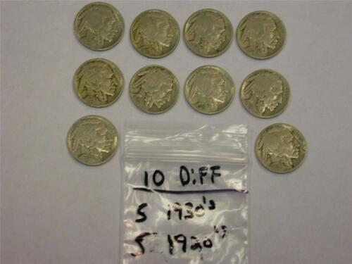 1920/'s 1930/'s BUFFALO NICKEL LOT -GREAT GIFT- MK2 5 5 10 COINS