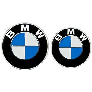 BMW-Emblem-82mm-74mm-Haube-Logo-Vorne-Hinten-Motorhaube-Kofferraum-1-3-5-6-7er-X