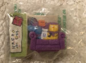 Vintage 1995 Taco Bell Nacho And Dog On Purple Couch Wind Up Toy New NIP