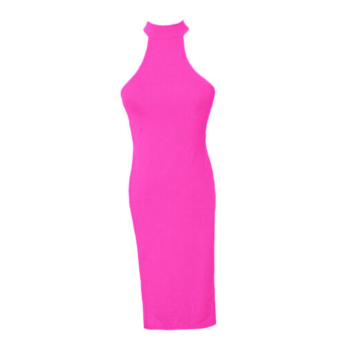 Womens Thin Halter Backless High Slit Skirt Cheongsam Nightgown Dress Lingerie