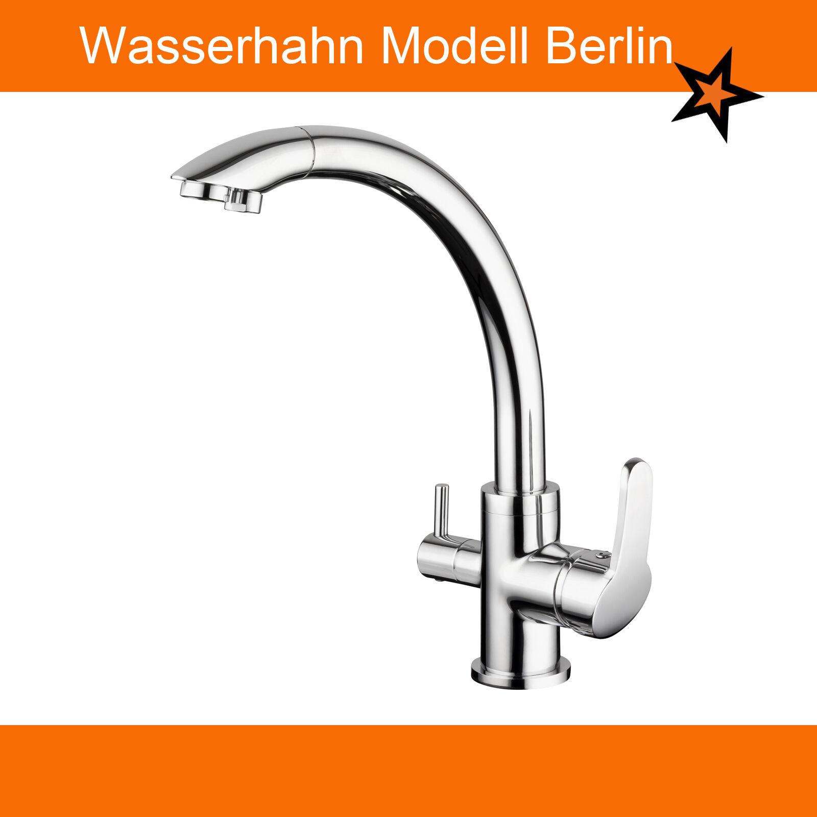 3 Wege Wasserarmatur. Wasserhahn auch für Osmoseanlagen geeignet.