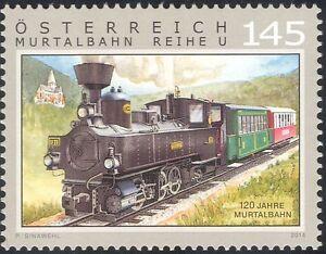 Austria-2014-Trains-Railways-Rail-Steam-Engine-Locomotive-Transport-1v-at1014