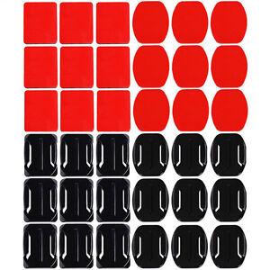NOUVEAU-18pcs-Casque-plat-courbe-adhesifs-autocollant-Support-pour-GoPro-Hero-3