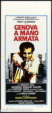 GENOVA A MANO ARMATA LOCANDINA CINEMA FILM CELI POLIZIESCO 1976 PLAYBILL POSTER