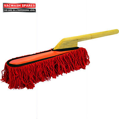AMERICAN STYLE TRADITIONAL CAR DUSTER / SOFT COTTON PILE / WOODEN HANDLE
