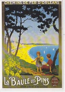 CP Poster Chemins Iron D'Orleans La Baule Les Pins Edit Clouet 10290
