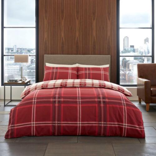 Luxe ensemble de literie housse de couette et taies d/'oreiller avec Housse de couette Set Bardsley Carreaux