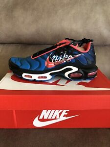 Nike-Men-039-s-Air-Max-Plus-Running-Sneakers-Time-Capsule-Blue-Black-Size-12-NEW