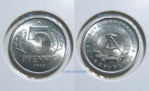 DDR-5-Pfennig-MATT-1968-1990-Jahr-und-Erhaltung-zur-Auswahl