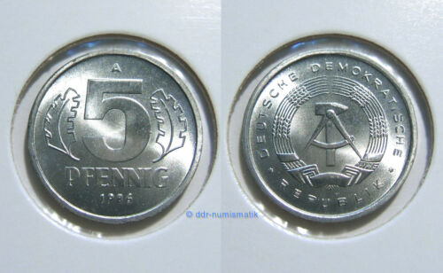 DDR 5 Pfennig MATT 1968-1990 *** Jahr und Erhaltung zur Auswahl