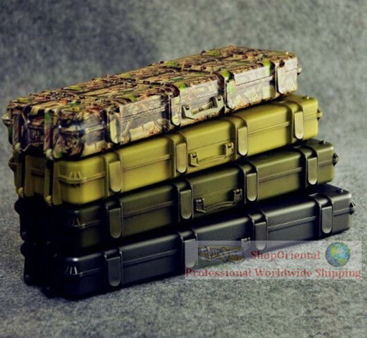 1 6 Sacle azione cifra Gun Rifle Weapon Case autorier scatola Camouflage ZY8025x4