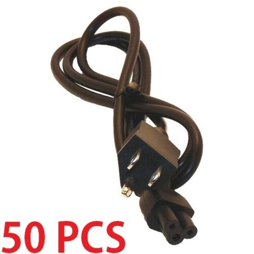 Lot of 50 PC 3-Prong Mickey Mouse AC Power Cord for Laptop PC Printers