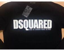 DSQUARED2 Herren Langarm T-shirt Longsleeve Größe XL schwarz Neu Mit Etikett