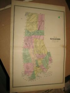 Details about 1868, GUILFORD, CT., MAP, THIS IS A DETAILED VINTAGE MAP, NOT  A REPRINT