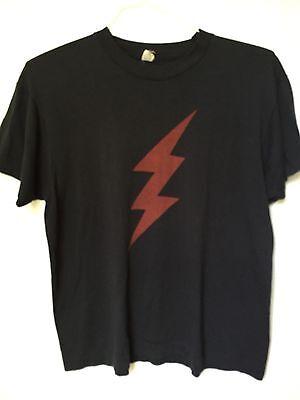 Rare Vintage 80's SCREEN STARS 50/50 Lightning BOLT Rock & Roll Mens T-Shirt,  L