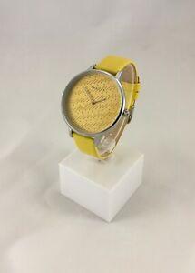 Oozoo-Uhr-Armbanduhr-Designuhr-gelb-yellow-silver-silber-ca-42-mm-C10244