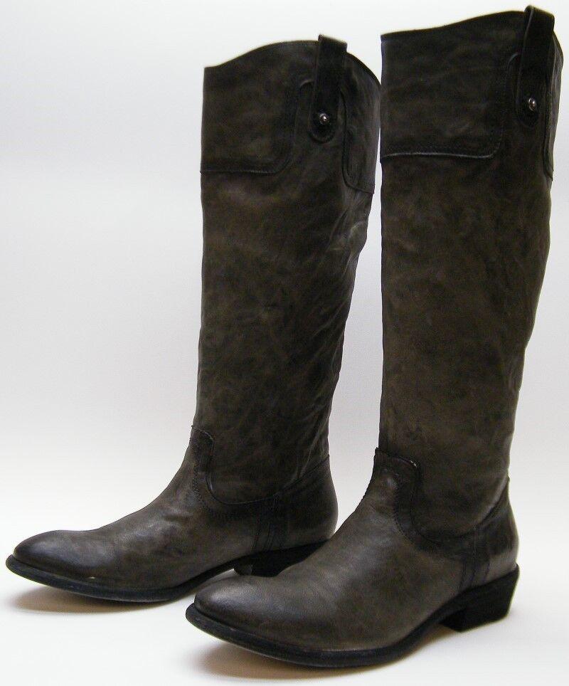 Donna FRYE CARSON 77204 TALL GREEN LEATHER COWBOY B WESTERN RIDING BOOTS 9 B COWBOY 9B d43850