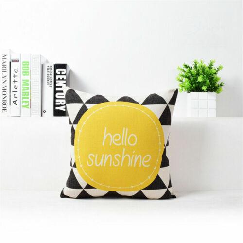 Simplicity Dot Cotton Linen Pillow Case Sofa Throw Cushion Cover Home Decor