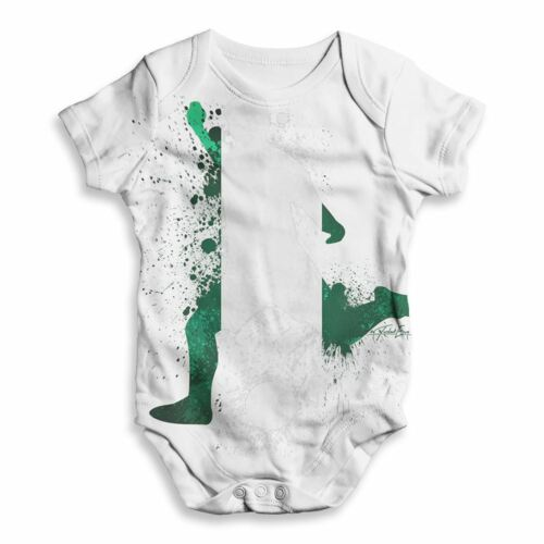 Fútbol Balonpié silueta Nigeria todo imprimir Bodysuit Babygrow