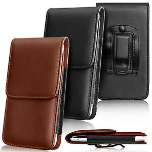 Premium-PU-Leather-Pouch-Belt-Holster-Flip-Case-Cover-Holder-For-Various-Mobiles