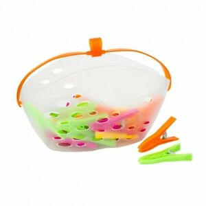 Hanging-Peg-Basket-Clothes-Laundry-24-Pegs-Washing-Line-Bag-Storage-Pouch-Hanger