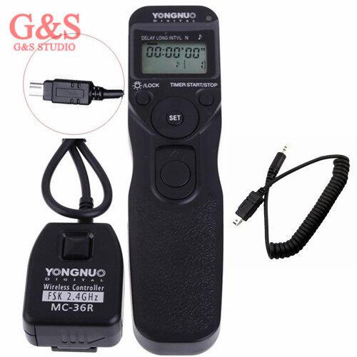 Romantique Yongnuo Mc-36r N3 Wireless Timer Remote For Nikon D7100 D5300 D5200 D3300 D3200 La Qualité D'Abord