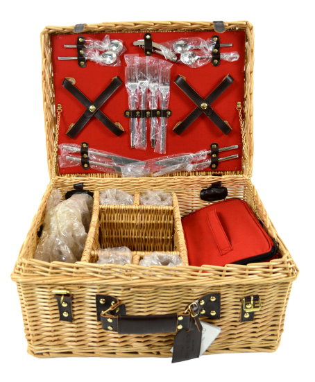 Greenfield Collection (GG020) Deluxe Blenhem Picknickkorb für 4 Personen *unvol