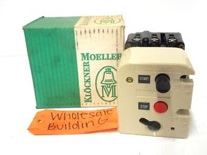 Lot of 2 Klockner Moeller Starter PKZM3-16-U-NA PKZM3-1,6-U-NA 600 VAC