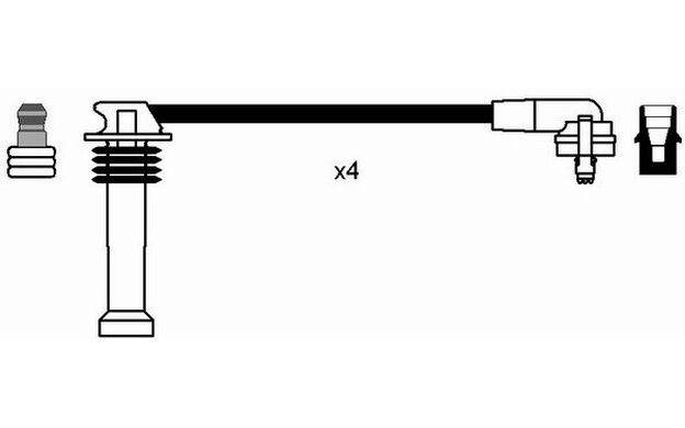 NGK Juego de cables encendido FORD FIESTA ESCORT MONDEO ORION COURIER 0641