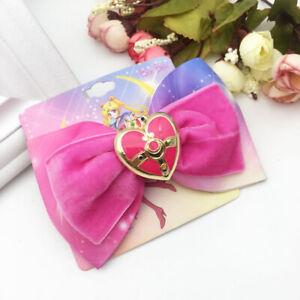 Details about Anime Cosplay Sailor Moon Tsukino Usagi Cosmic Heart Brooch  Hair Bow Hairpin Hot