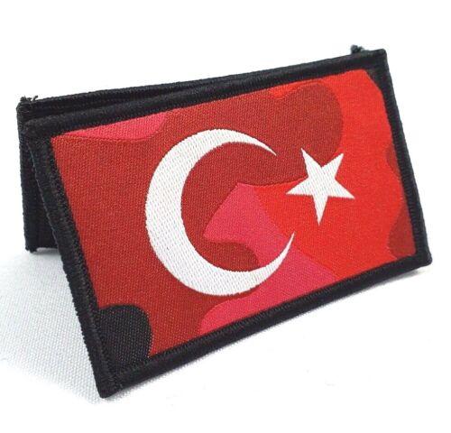 Ricamate patch Asker Türkiye Cumhuriyeti Turk bayragi Ayyildiz Bayrak Vatan ROSSO