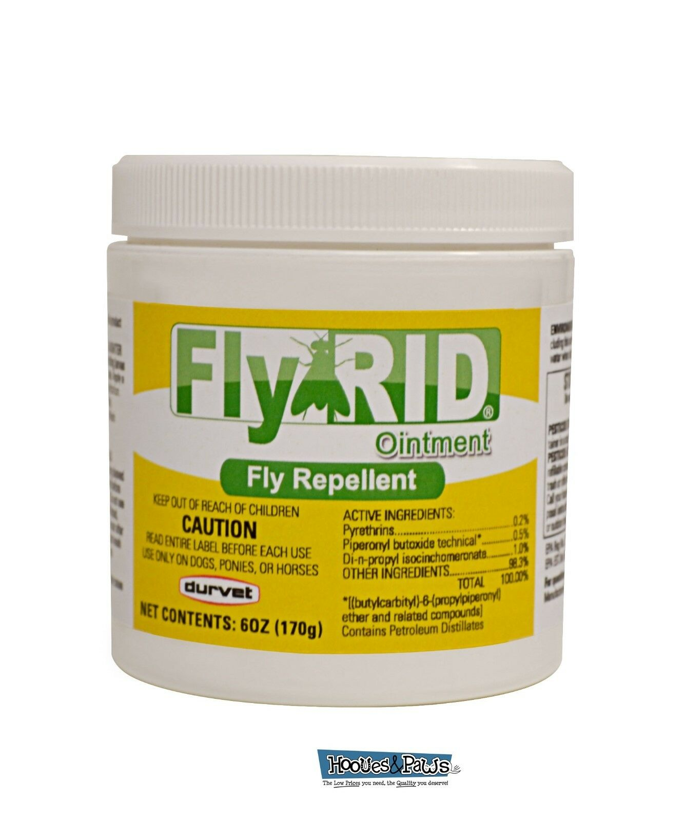 Durvet Fly Rid Insecticide Ointment Fly Repellent 6oz For Dogs and Horses