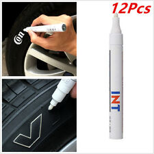 12PCS Permanent Car Motorcycle Tyre Tire Tread Marker Paint Pen White Waterproof