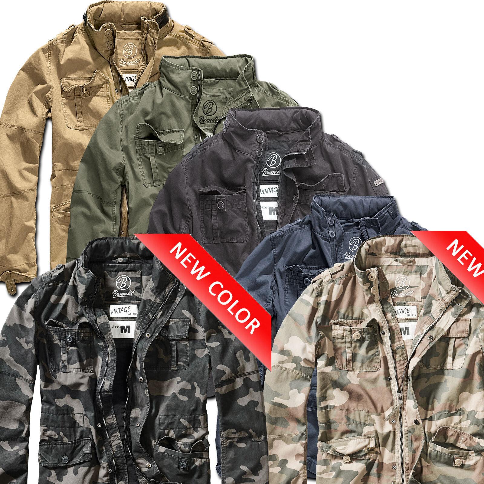Brandit Britannia férfi transzfer kabát Vintage kültéri nyári kabát hadsereg Használt