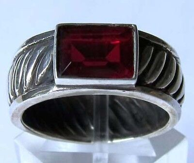 Größenauswahl 925 ECHT SILBER *** Gothic Granat Ring