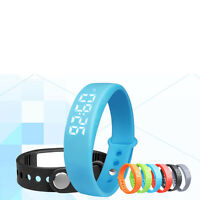 W5 Smart Fitness Wristband 3d Pedometer Alarm Reminder Step Calories Gauge Watch