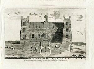 Inglateerra-Lumley-Castle-Engraving-Taken-Of-A-Drawing-Of-Edward-Bars